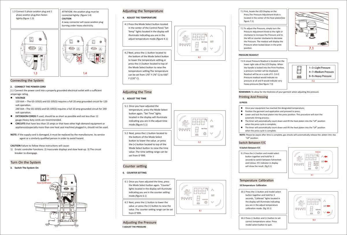 GS-105S Operation Manual